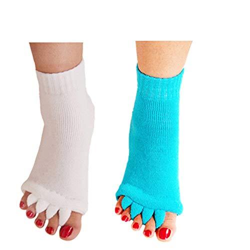 minjie Fuß Ausrichtung Socken Zehenspreizer Socken Comfy Toes Socken Ausrichtung Yoga Gym Massage Hälfte Fuß Socken für Frauen Herren