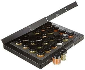 Hallingers Gewürzkalender Gewürze Deluxe Selektion 24, black Set/Mix 24 x Miniglas in Deluxe-Box, 1er Pack (1 x 500 g)
