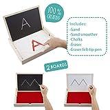 Akros 20616Set Spricht Mehrere Sinne an Pre-Writing Tablett und Schneidbrett die Sinne