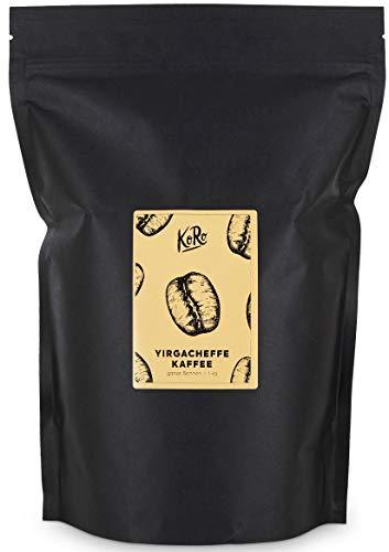 KoRo - Yirgacheffe Kaffee 1 kg - Hochwertiger Spezialitätenkaffee in der Vorteilspackung, ganze Bohne