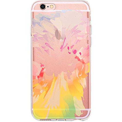 GIRLSCASES® | iPhone 6-6S Hülle | Im Fee Motiv Muster | in schwarz | Fashion Case transparente Schutzhülle aus Silikon Bunter Farbmix 1