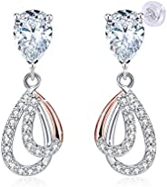 JRosee Swarovski 925 Sterling Silver Crystal Studs Earrings for Women Ladies Girl friend Gift JRosee Jewelry J