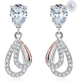 Swarovski Elements 925 Sterling Silver Crystal Studs Earrings for Women Ladies Girl friend Gift J.Rosée Jewelry JR697