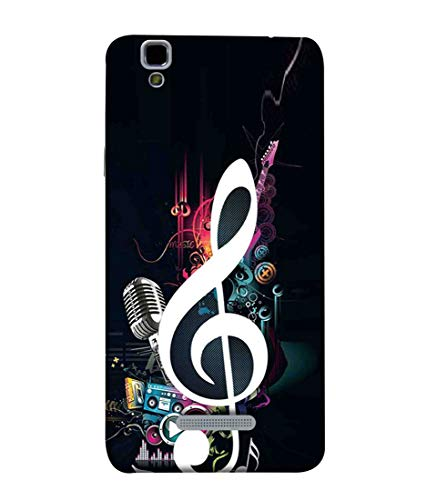 Printfidaa Musical Note Print Designer Back Cover for YU Yureka, AO5510