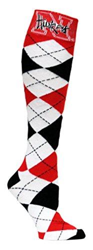 Donegal Bay NCAA Socken Argyle, Unisex Herren, rot/grau, Einheitsgröße