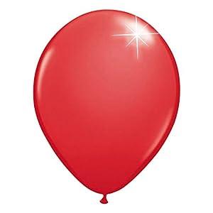Folat 08112 - Globos metálicos (30 cm, 100 unidades), color rojo