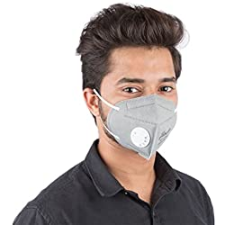 GrinHealth Anti Pollution Foldable Face Mask with Easy Exhalation Valve (Pack of 2)