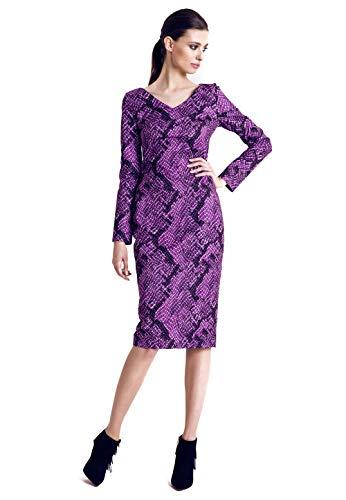 RITA KOSS Damen Kleid Langarm V-Ausschnitt NEU Koss Violett