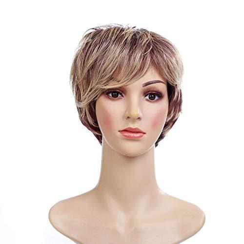 Frisur gefälschte Kopfbedeckung Perücke kurze Haare Dame kurze Perücke Lied Urlaub Haar Perücke Kopfbedeckung (Für Halloween Gute Party Lieder)