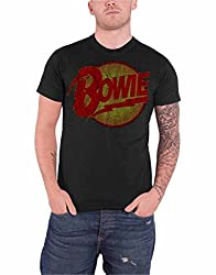 David Bowie Mens T Shirt Black Diamond Dogs Vintage Logo Official from David Bowie