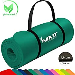 Movit® - Esterilla para Pilates - Sin ftalatos Colchoneta de Yoga/Gimnasia Homologada por la SGS - Largo 183 x 60 x 1,0 cm cm Estera de Yoga y Pilates Colchoneta de Yoga Colore Verde