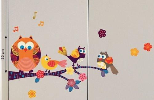OWLS Eulen Wand- und Möbelsticker