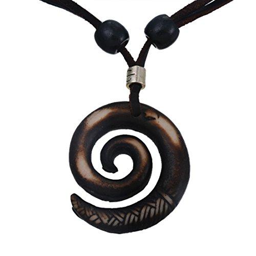 mjartoria-femme-homme-collier-chaine-cordon-tribal-pendentif-resine-cercle-perle-bois-reglable-ethni