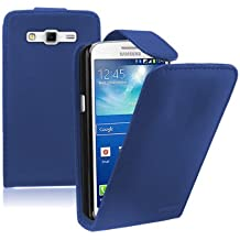 Membrane - Azul Funda Carcasa para Samsung Galaxy Grand 2 II (GT-G7106 / SM-G7102 Dual / SM-G7105 LTE) - Flip Case Cover