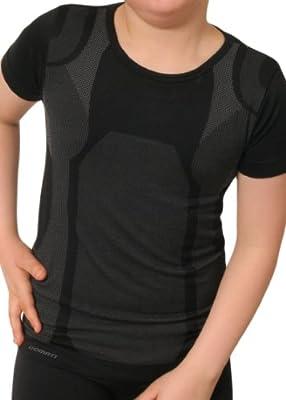 Kinder Sport Funktionswäsche Kurzarm Hemd Seamless von celodoro - Ski-, Thermo- & Funktionsshirt ohne störende Nähte mit Elasthan - verschiedene Farben