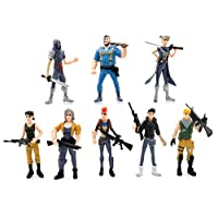 8pcs/set Fortnite Toys Anime Ornament Fortnite Action Figure Model Doll Toy height 4.5inch