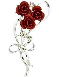 Jodie Rose 24383 - Broche de metal con cristal
