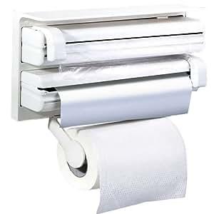Evana Triple Paper Dispenser For Cling Film Wrap Aluminium Foil & Kitchen Roll