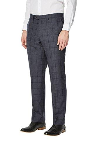 next Uomo Completo Signature A Reticolo: Pantaloni Vestibilità Regular Blu
