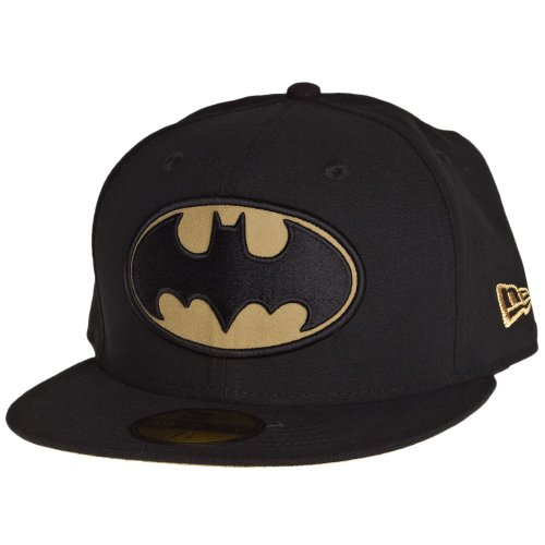 New Era Black/Gold Hero Reflect DC Comics Batman 59Fifty Fitted Baseball Cap