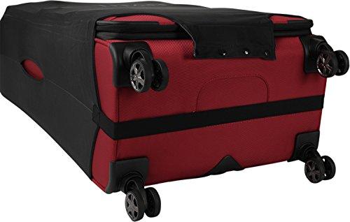 TITAN Luggage Cover UNIVERSAL - aus elastischem Spandex Polyester für 4-Rad Trolleys L, 77 cm, Black - 5