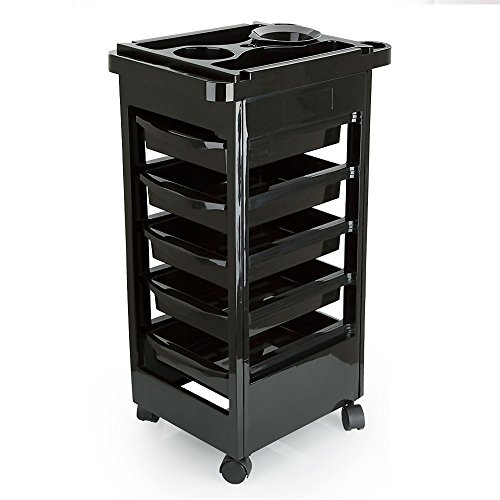 Hotrose Salon Hairdresser Barber Storage Trolley Cart
