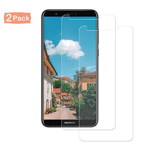 Sunoule [2 Stück] Panzerglas Bildschirmschutzfolie kompatibel mit Huawei P Smart 2018, Huawei P Smart 2018 Panzerglasfolie, Ultra-klar, 9H Härte, Anti-Kratzen, Anti-Öl, Anti-Bläschen