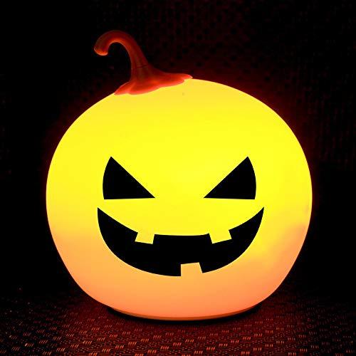 Halloween-K¨¹rbis f¨¹hrte Silikonlampen-Farb?nderungsklapslicht-Geb¨¹hrendekoration Weihnachtskreative Nachtlicht-D?monmagie 0.8W