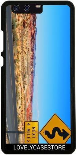 Hülle für Huawei P10 Plus - Straße USA USA Drehen Vereinigte Staaten Wüste Arid Sun Sky Blue