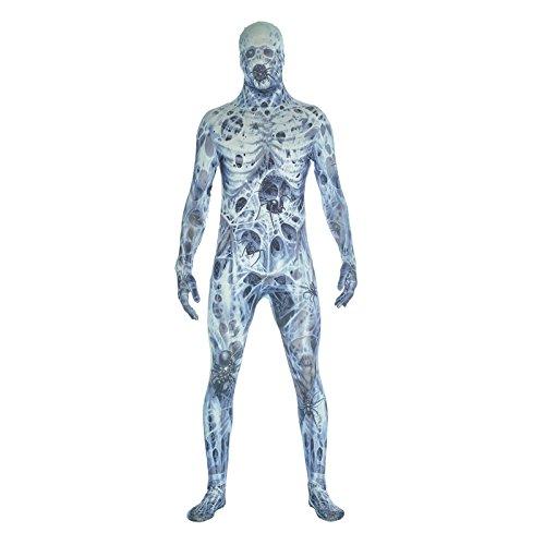 Morphsuit Alle Weißen (Arachnamania Morphsuit Verkleidung, Kostüm Xlarge - 5'10-6'1)