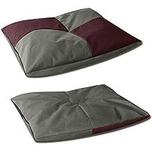 BedDog Bona 2en1 Burdeos/Gris L Aprox. 65x50cm colchón para Perro, 6 Colores
