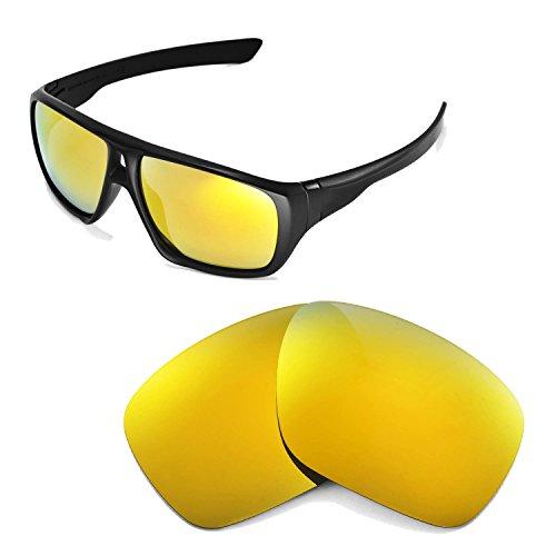 Walleva Ersatzgläser für Oakley Dispatch Sonnenbrille -Mehrfache Optionen (24K Gold Mirror Coated - Polarisiert)