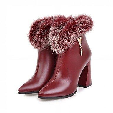 Rtry Femmes Chaussures Similicuir Hiver Printemps Mode Bottes Bottes Chunky Talon Bout Rond Bottillons / Zipper Bottines Pour Casual Office & Amp; Carrière Us6.5-7 / Eu37 / Uk4.5-5 / Cn37