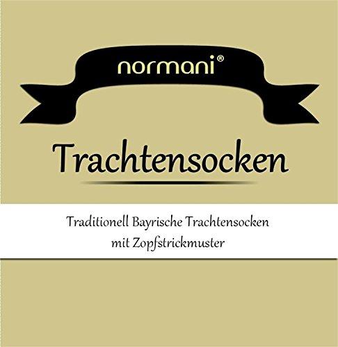 normani Kurze oder Lange Trachtensocken Trachtenstrümpfe Zopf muster Socken meliert Farbe Weiß Größe 43/46 - 2