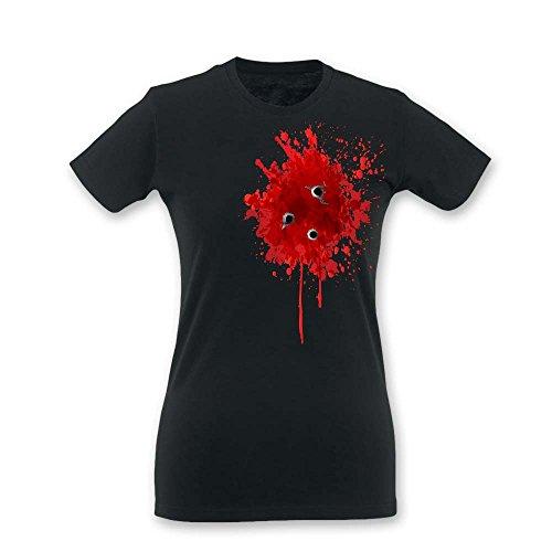 T Shirt Donna Idea Regalo Halloween Blood Nera