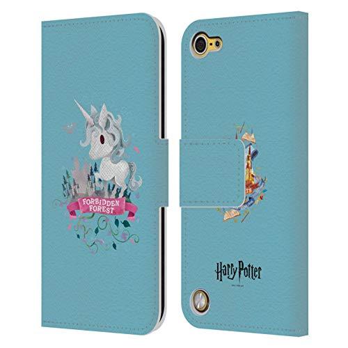 Head case designs ufficiale harry potter unicorno deathly hallows ii cover in pelle a portafoglio compatibile con ipod touch 5g 5th gen