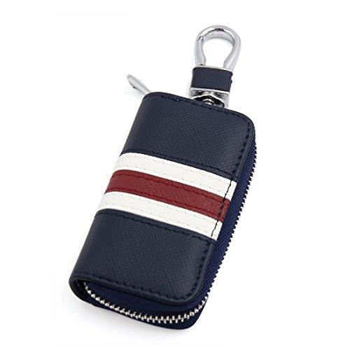 sourcingmap® Noir Blue Unisex auto voiture porte-clés Porte-clés Porte-clés Porte-monnaie pendaison Portable
