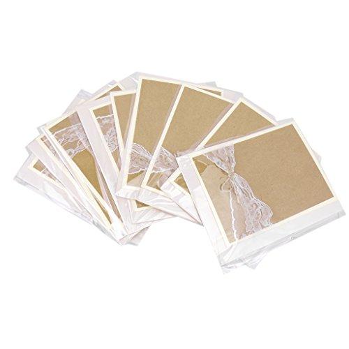 Spitze Papier Hochzeits Einladungskarten Buchstaben Mit Umschlag Packung Von 5 Stück (Spitze Buchstaben)