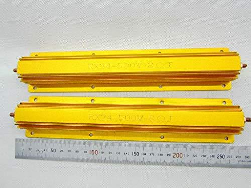 FidgetKute 2 Stück 8 Ohm 8R 500 W Watt Power Metall Widerstand für Röhrenverstärker Test Dummy Last