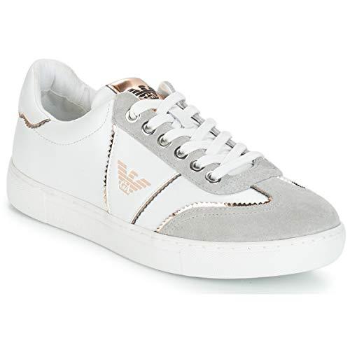 Emporio Armani X3X083-XL842 Sneaker Damen Weiss/Grau - 38 - Sneaker Low