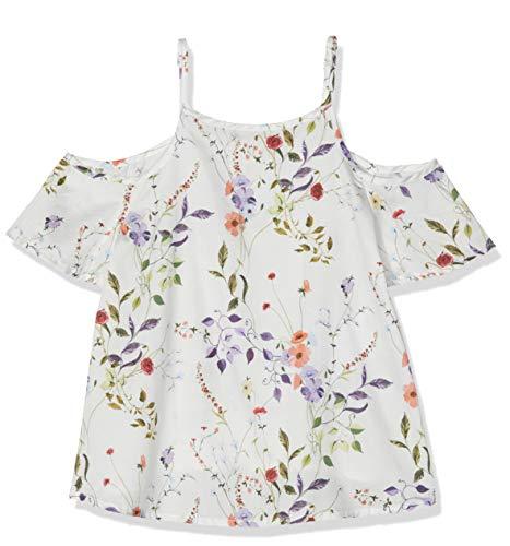 NAME IT Mädchen NKFHUSSA SS BLOUSE Bluse, Weiß (Bright White), 158 (Herstellergröße: 158-164)