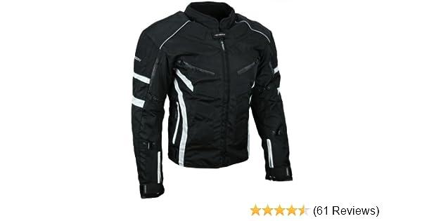 5XL HEYBERRY Kurze Textil Motorrad Jacke Motorradjacke Schwarz Rot Gr