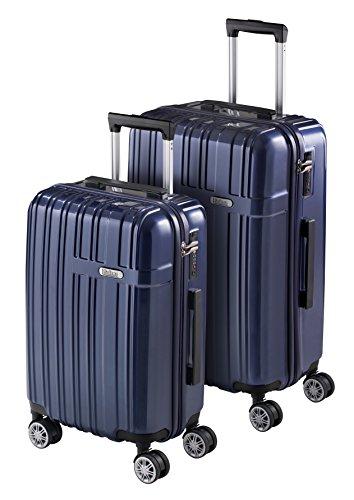 Set 2 Bagagli Rigidi SULEMA, Valigie da Viaggio Super Leggere, Trolley Resistenti in ABS con 4 Ruote Doppie Giro 360º Lucchetto TSA