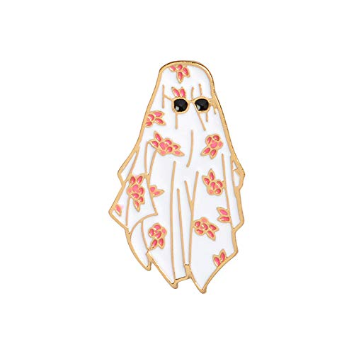 Bangle009 Fashion Unisex Sonnenbrille Brosche Anstecknadel Emaille Mantel Jacke Denim Schmuck Decor weiß