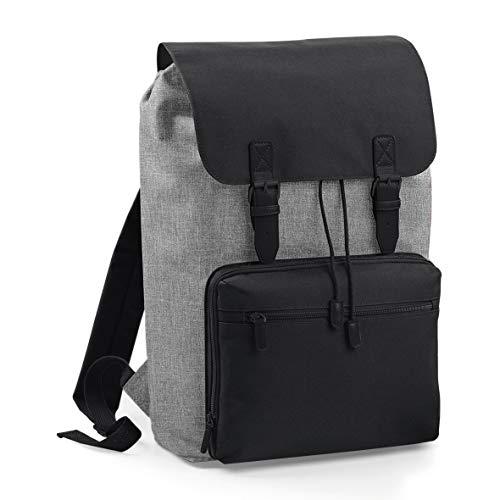 """Vintage Rucksack für Damen und Herren mit Laptop-Fach (17""""), Notebook-Tasche in Grau, Backpack Wasserdicht, Ideal für Reise, Hand-Gepäck, Wandern, Camping, Retro Travel-Bag, Outdoor"""