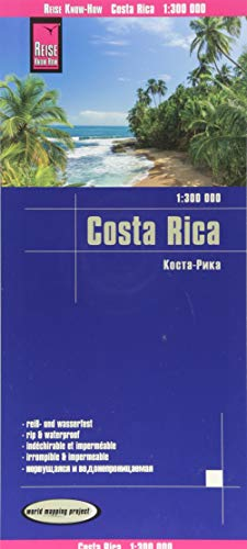 Costa Rica 1:300.000 impermeable