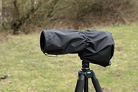 Pluie lentille de la camera couvercle etanche pour Sigma 120-400 DG OS HSM . Couleur: Noir nylon, et Etui de transport