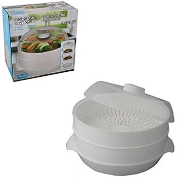 Kitchen Craft Mikrowellengeschirr 3-teiliger Dampfgarer, 2
