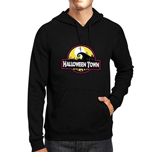 Halloween Town Nightmare Before Christmas Park Men's Hooded Sweatshirt