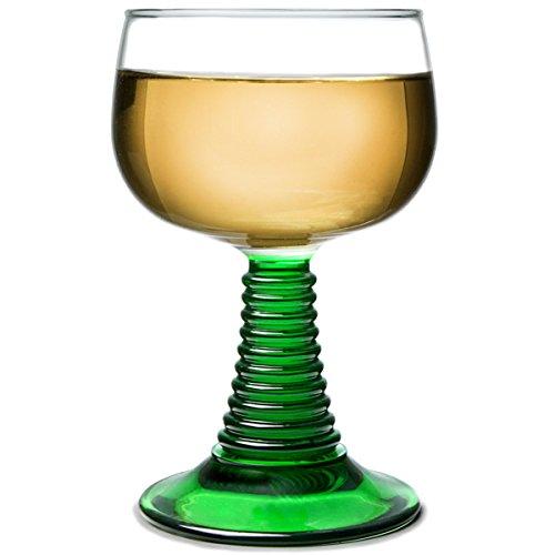 Arcoroc Weinrömer grüner Fuß 250ml, ohne Füllstrich, 6 Stück